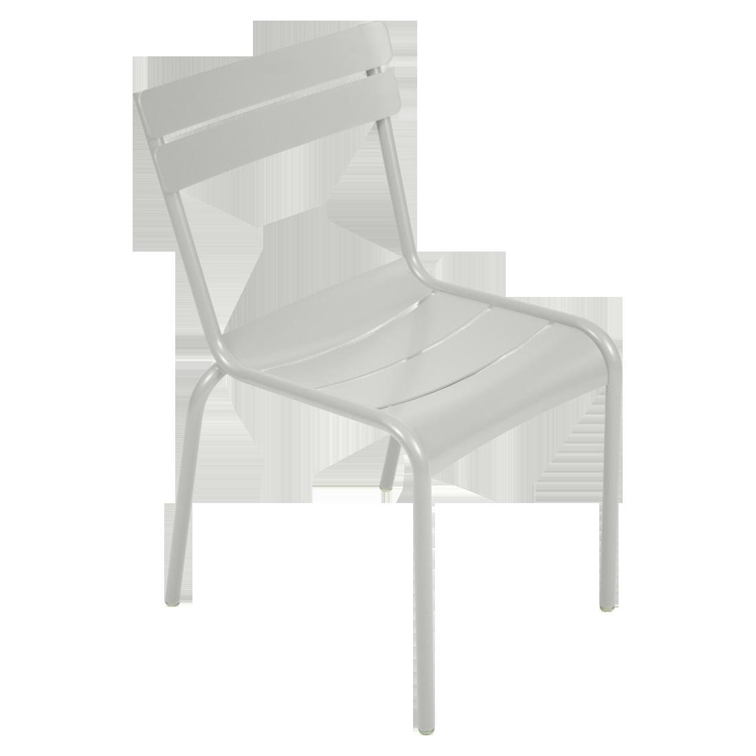 chaise luxembourg de fermob gris m tal. Black Bedroom Furniture Sets. Home Design Ideas