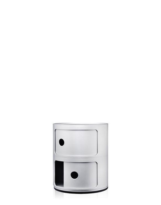 meuble de rangement componibili de kartell petit mod le argent. Black Bedroom Furniture Sets. Home Design Ideas