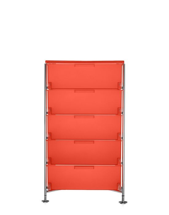 meuble de rangement mobil cinq tag res de kartell orange simple. Black Bedroom Furniture Sets. Home Design Ideas