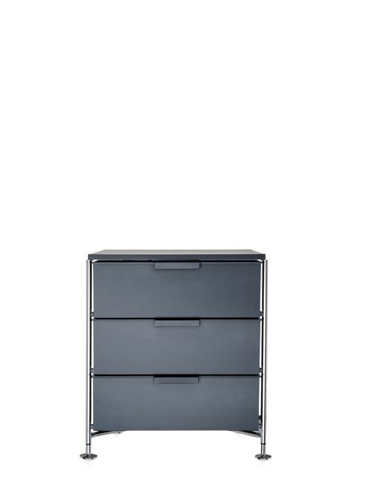 meuble de rangement mobil trois tag re de kartell ardoise opaque simple. Black Bedroom Furniture Sets. Home Design Ideas