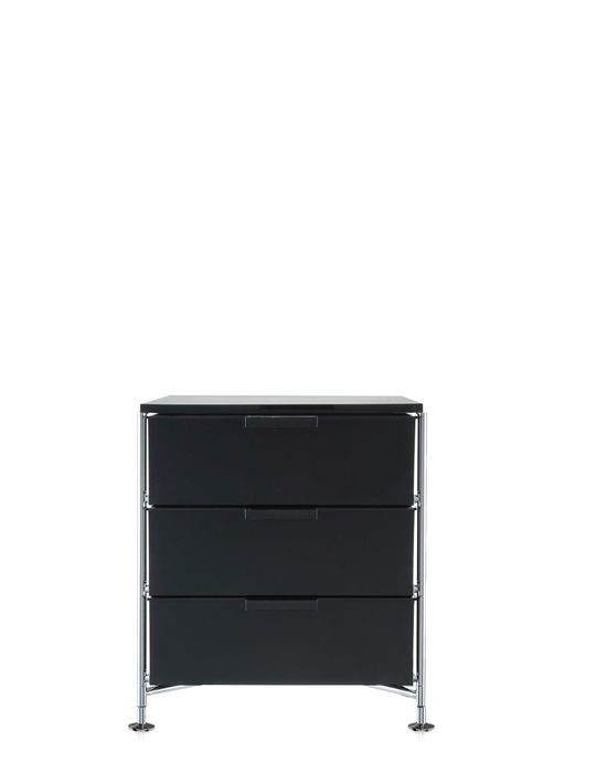 meuble de rangement mobil trois tag re de kartell fum brillant simple. Black Bedroom Furniture Sets. Home Design Ideas