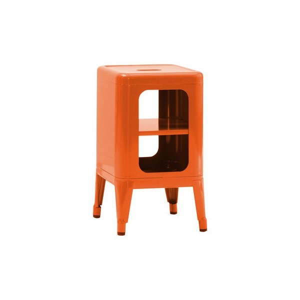 Meuble tabouret mt500 de tolix orange for Meuble orange