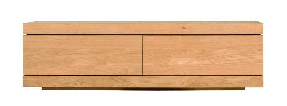 Meuble tv oak burger d 39 ethnicraft 1 porte flipdown 1 for Meuble porte d orient