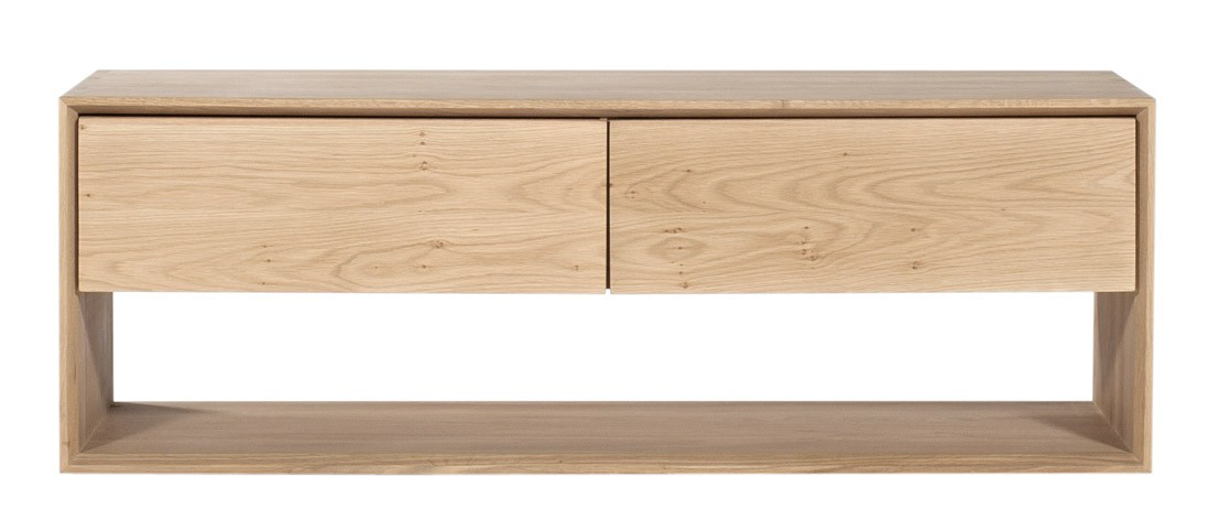 Meuble tv oak nordic d 39 ethnicraft 1 porte abattante 1 for Meuble porte d orient