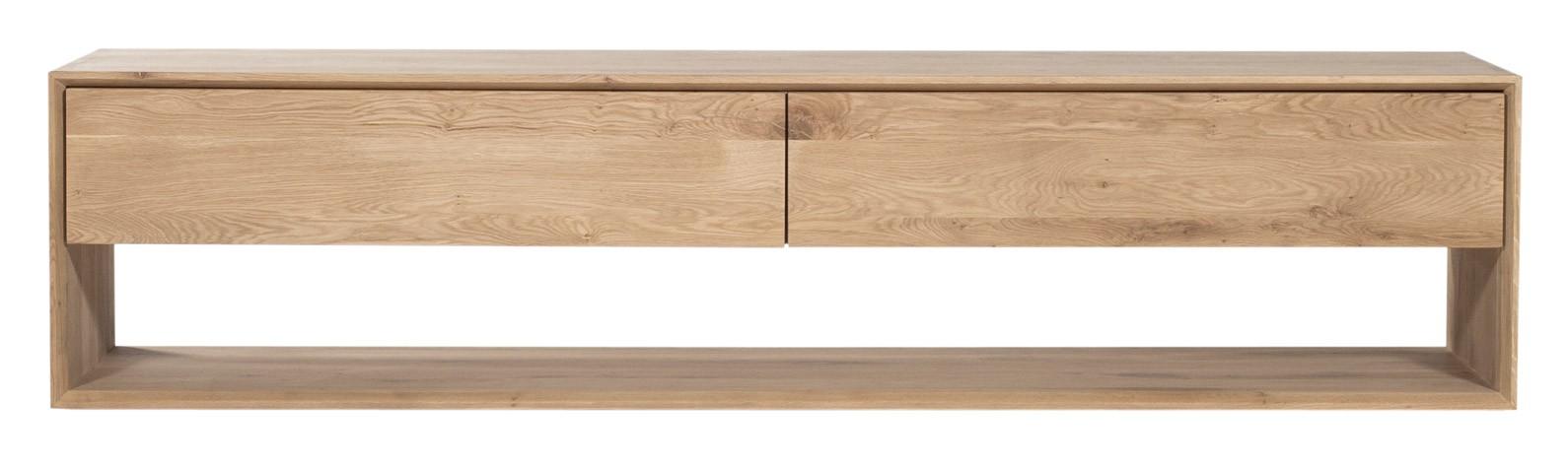 meuble tv oak nordic d 39 ethnicraft 1 porte abattante 1 tiroir. Black Bedroom Furniture Sets. Home Design Ideas