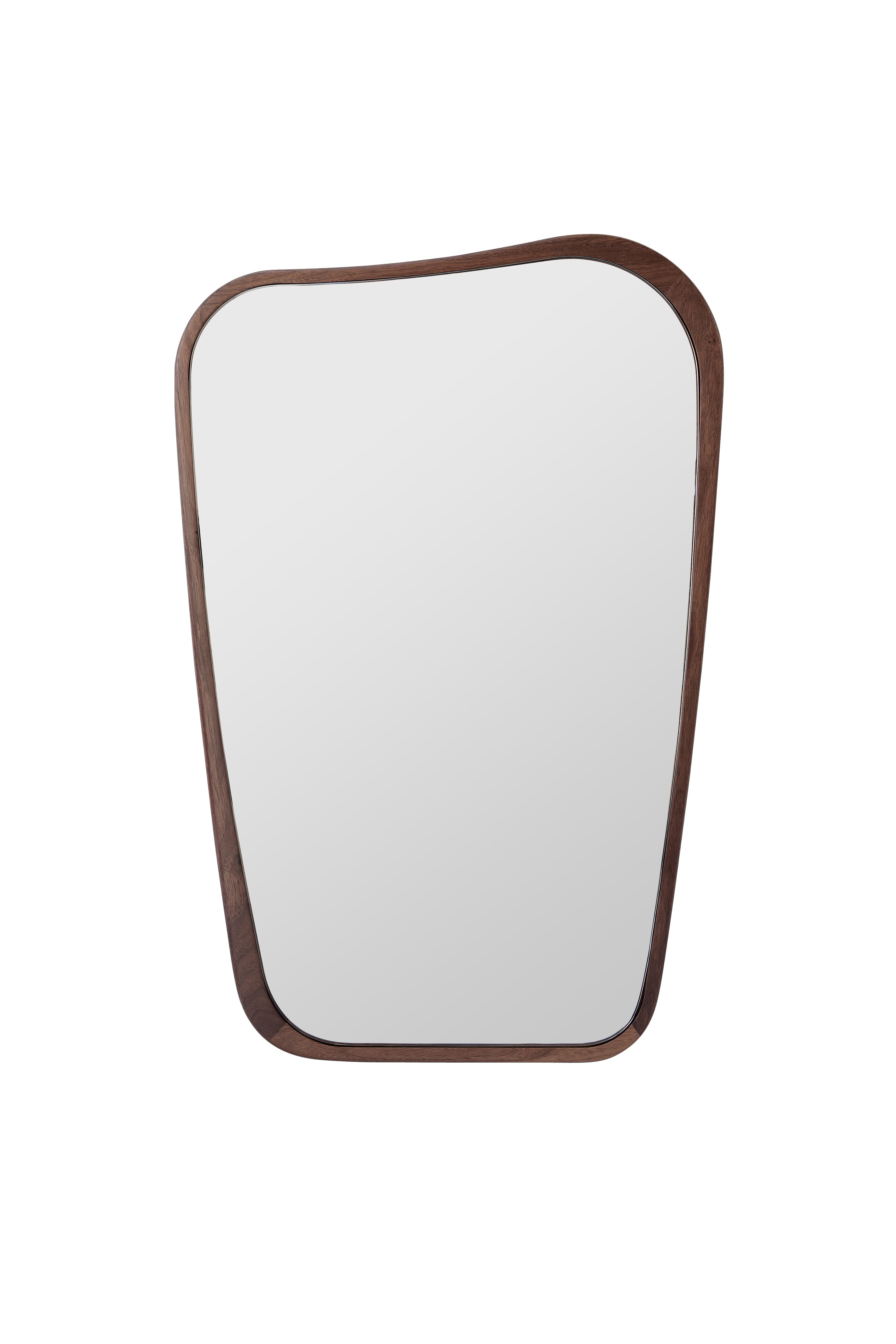 Miroir organique de sarah lavoine 63 x 90 noyer for Miroir 90 x 150