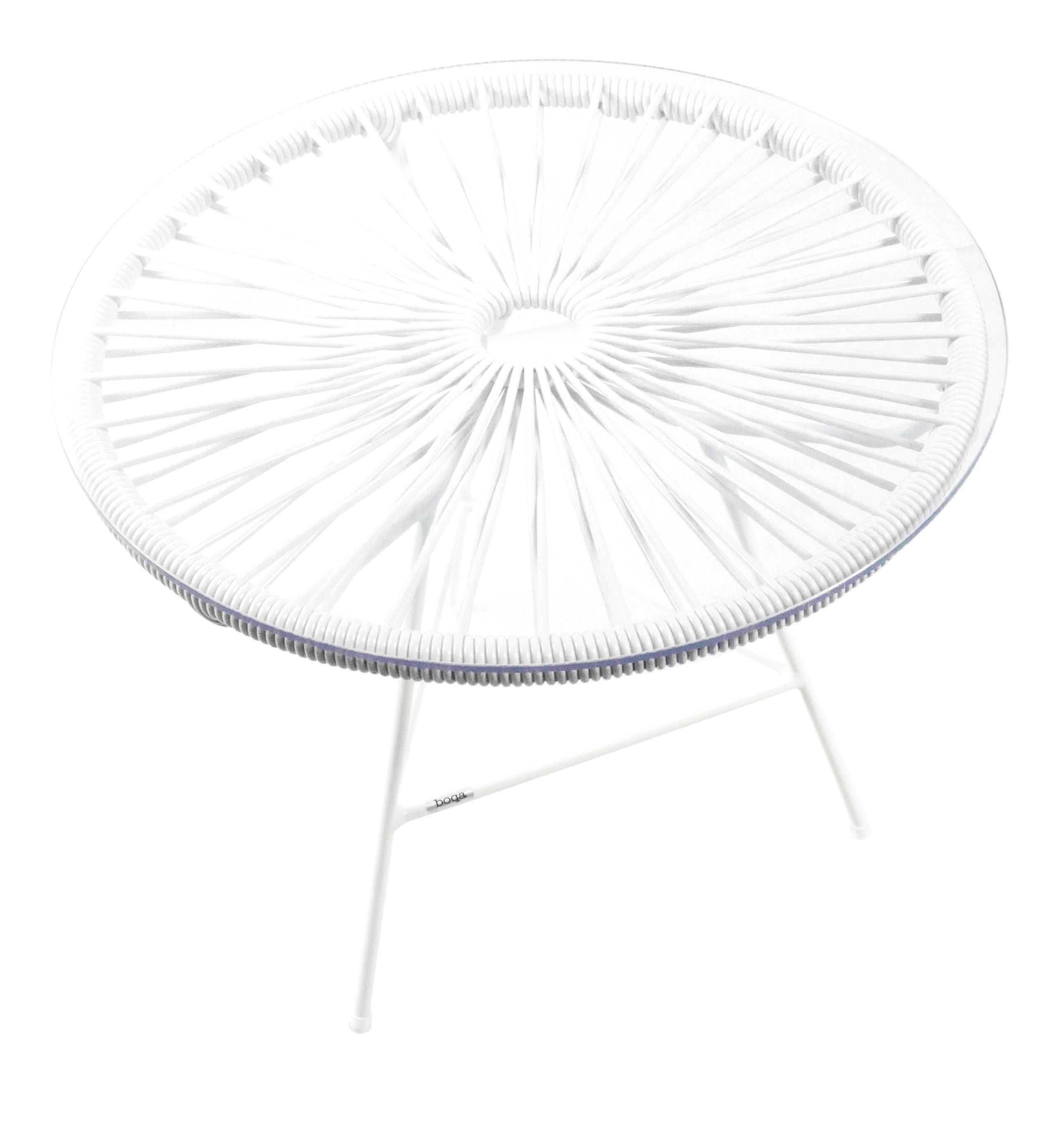 BlancheBlanc Table Mini Zipolite Boqa Avec D'argent De Basse Structure LUMVGqzSp