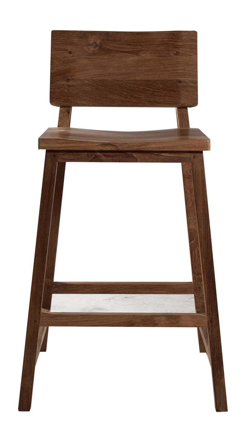 Bar En Bois Brut : Tabouret de bar en bois brut