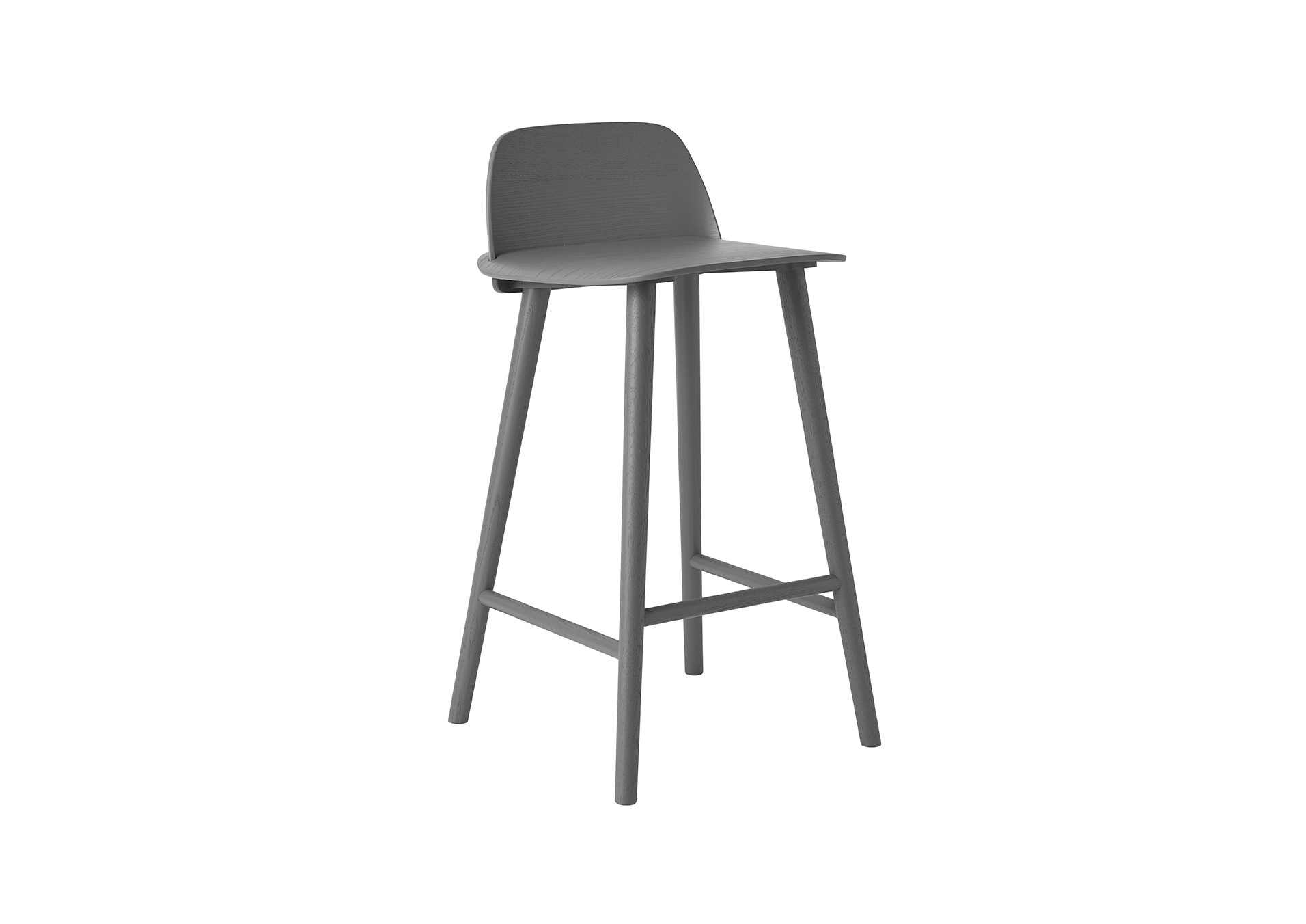 tabouret de bar nerd de muuto gris fonc. Black Bedroom Furniture Sets. Home Design Ideas