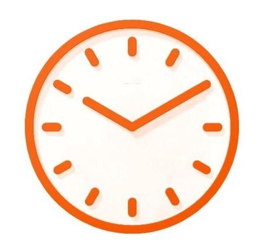 horloge tempo de magis orange. Black Bedroom Furniture Sets. Home Design Ideas