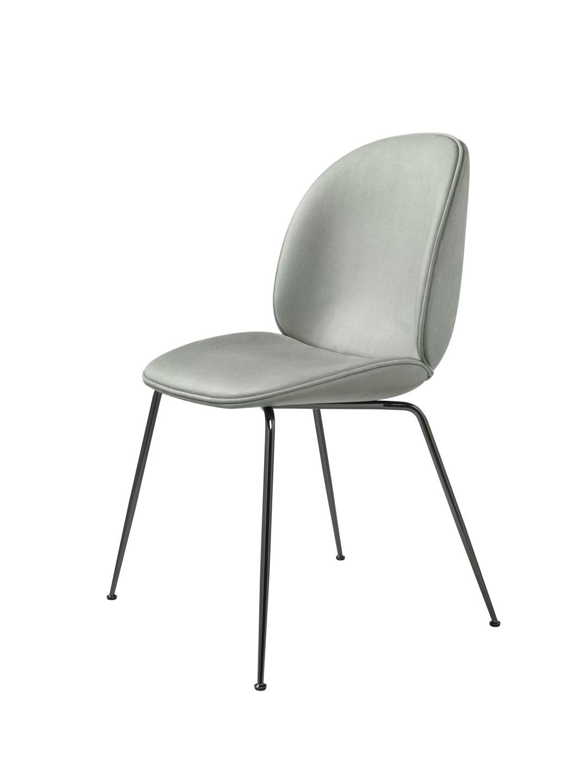 chaise beetle fully upholstered avec pieds chrom noir de. Black Bedroom Furniture Sets. Home Design Ideas