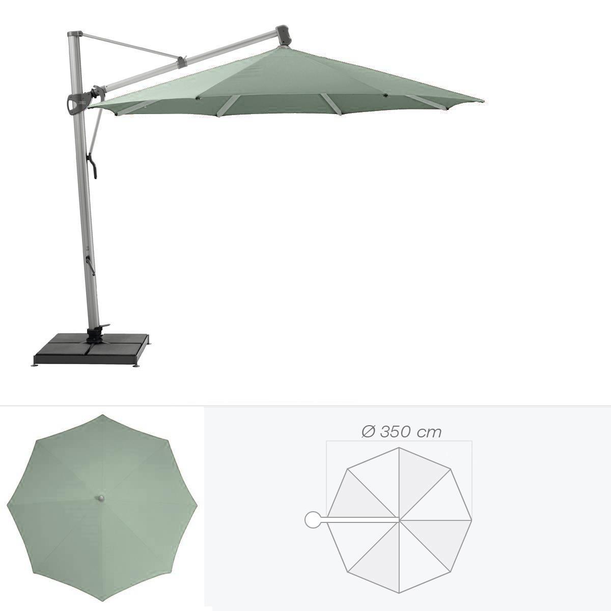 glatz parasol d centr sombrano de glatz rond cm vert de gris. Black Bedroom Furniture Sets. Home Design Ideas