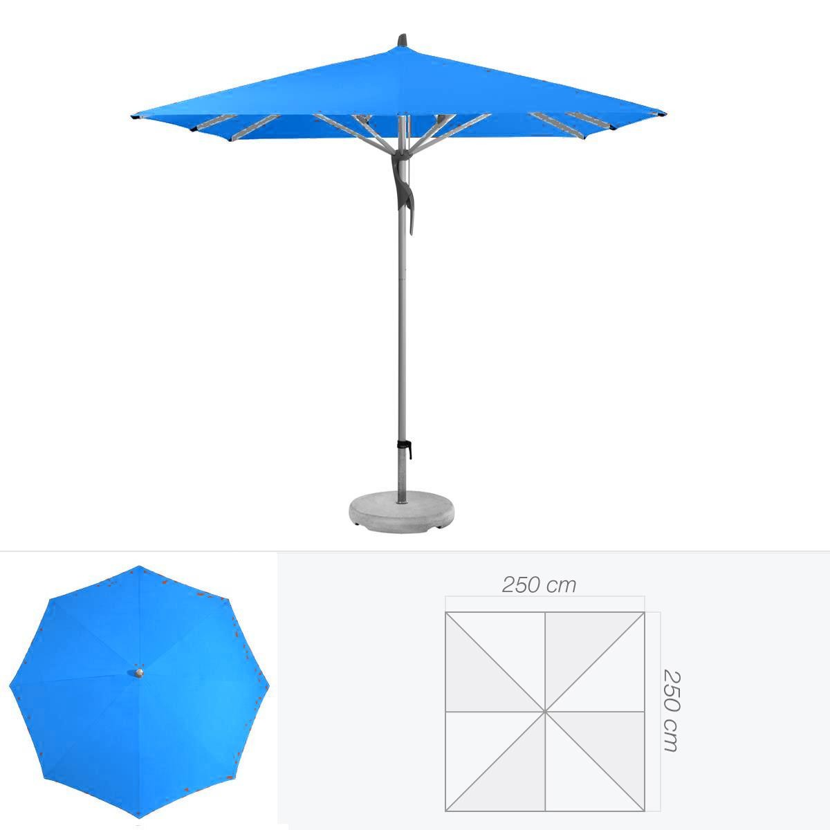 glatz parasol fortero de glatz carr 250x250 cm bleu roi. Black Bedroom Furniture Sets. Home Design Ideas