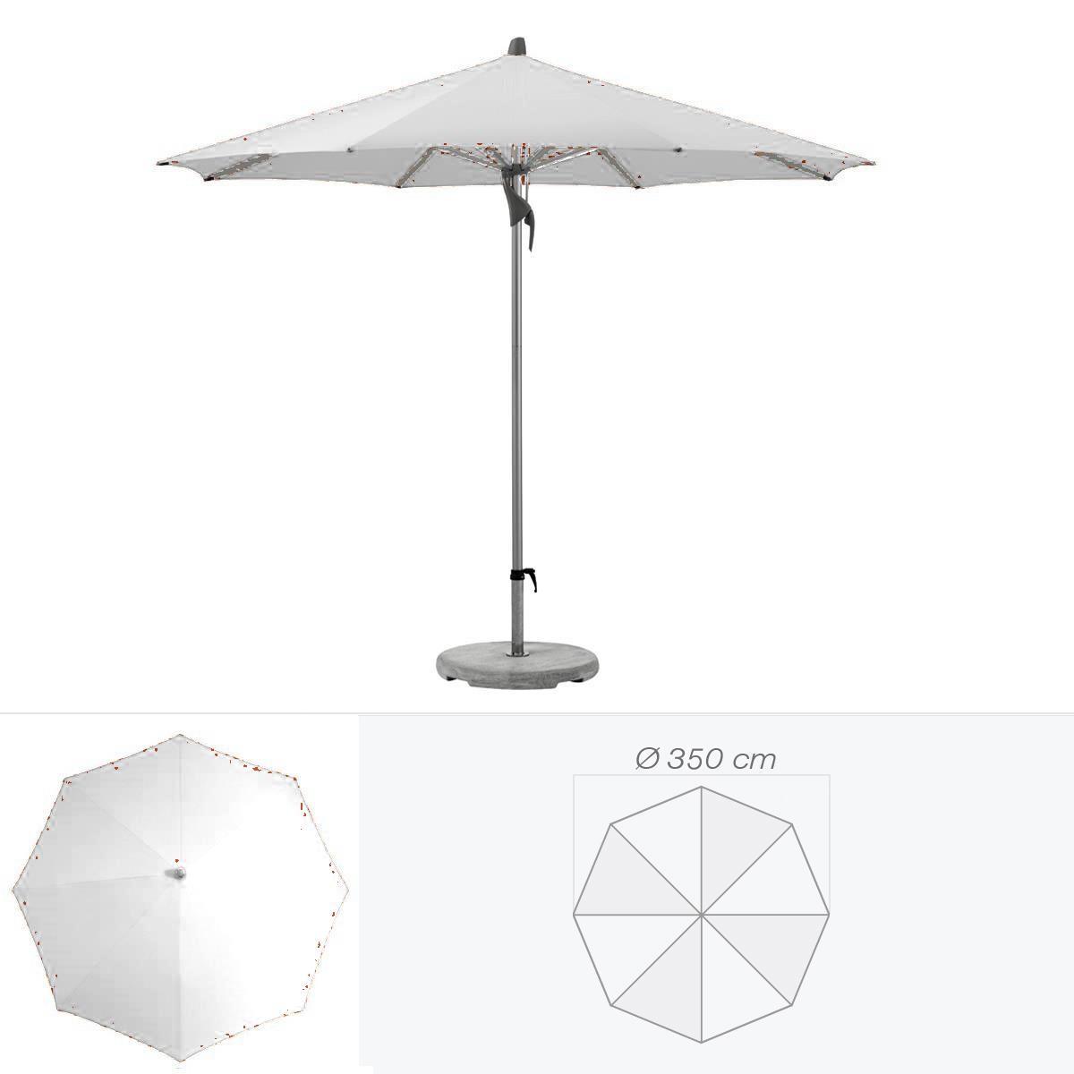 glatz parasol fortero de glatz rond cm argent. Black Bedroom Furniture Sets. Home Design Ideas