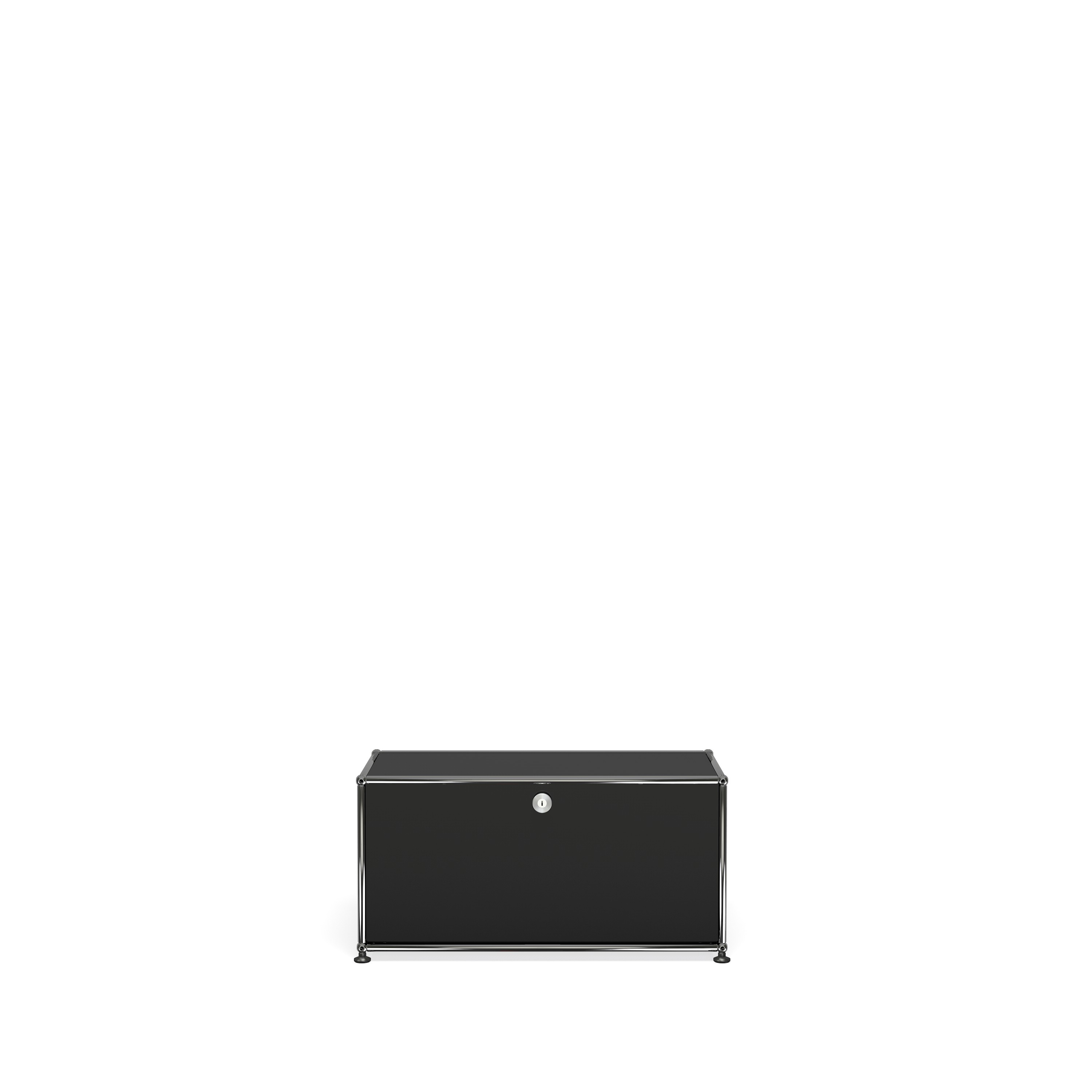 petit meuble de rangement usm haller m10 noir graphite. Black Bedroom Furniture Sets. Home Design Ideas