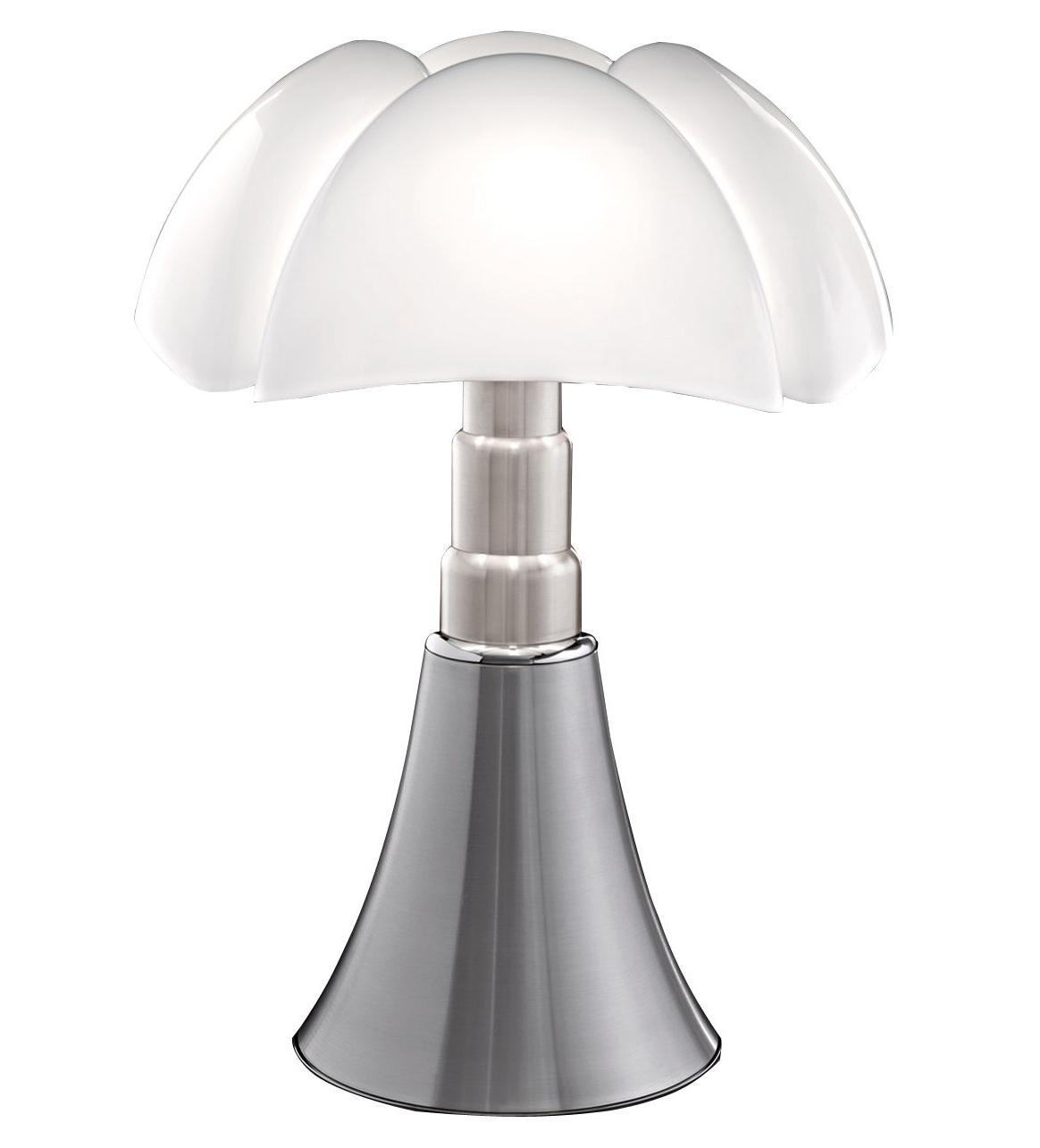 Lampe à poser PIPISTRELLO de Martinelli Luce, Aluminium satiné f2c5d7f8d1fa