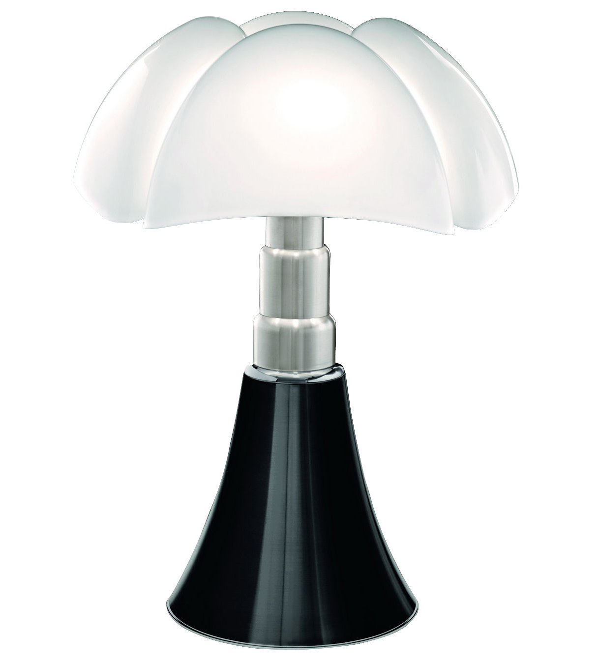 lampe poser pipistrello led dimmable de martinelli luce noir brillant. Black Bedroom Furniture Sets. Home Design Ideas