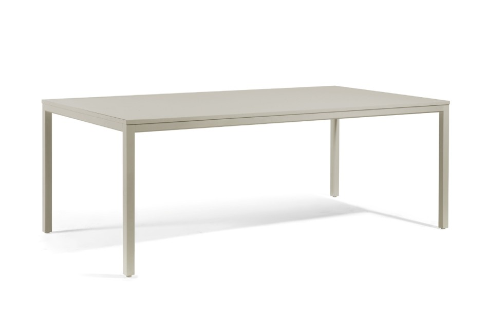 Table manger quarto de manutti taupe 150x90x75 - Table a manger taupe ...