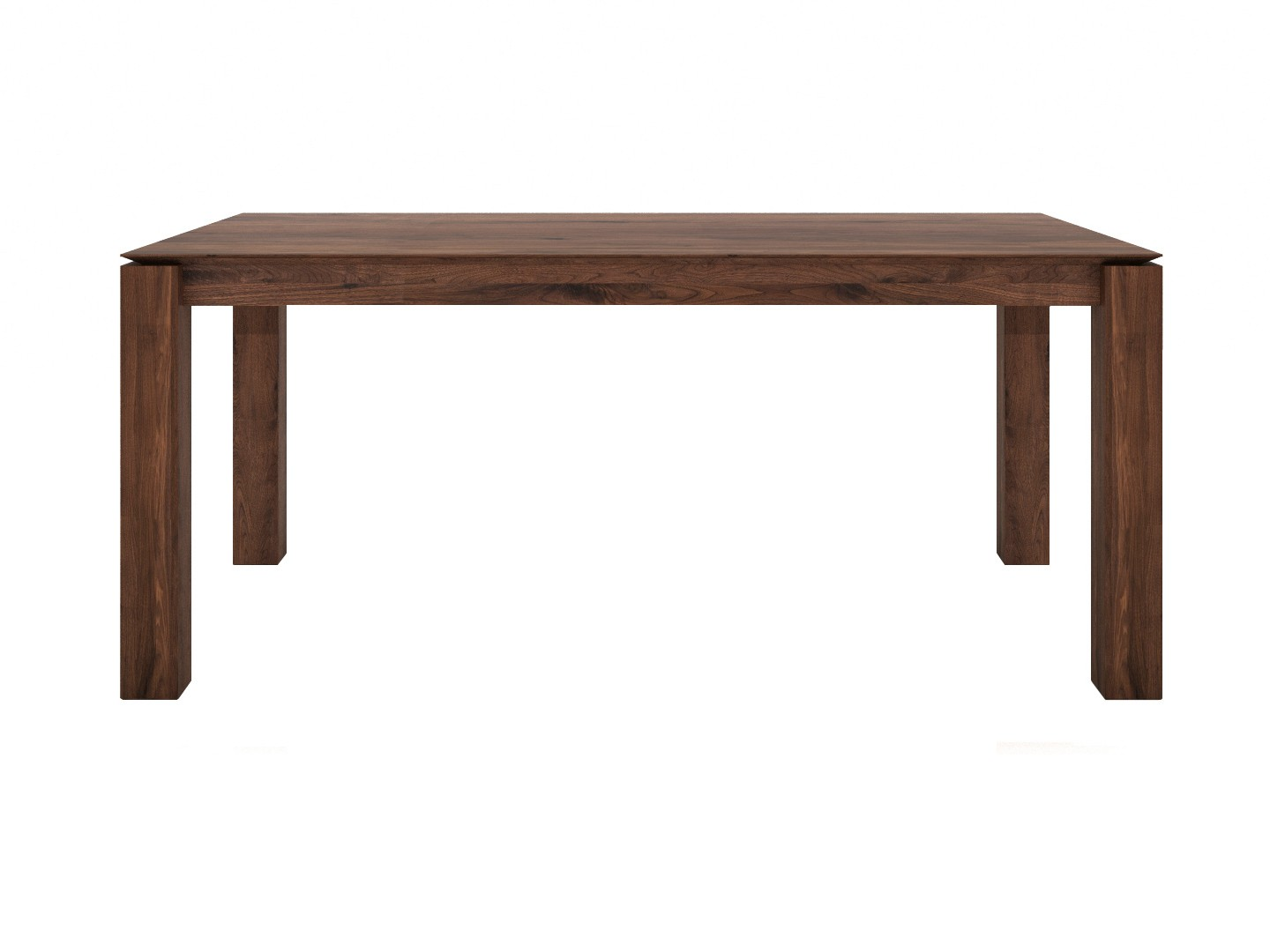 Table manger extensible slice noyer d 39 ethnicraft 2 tailles for Taille table a manger