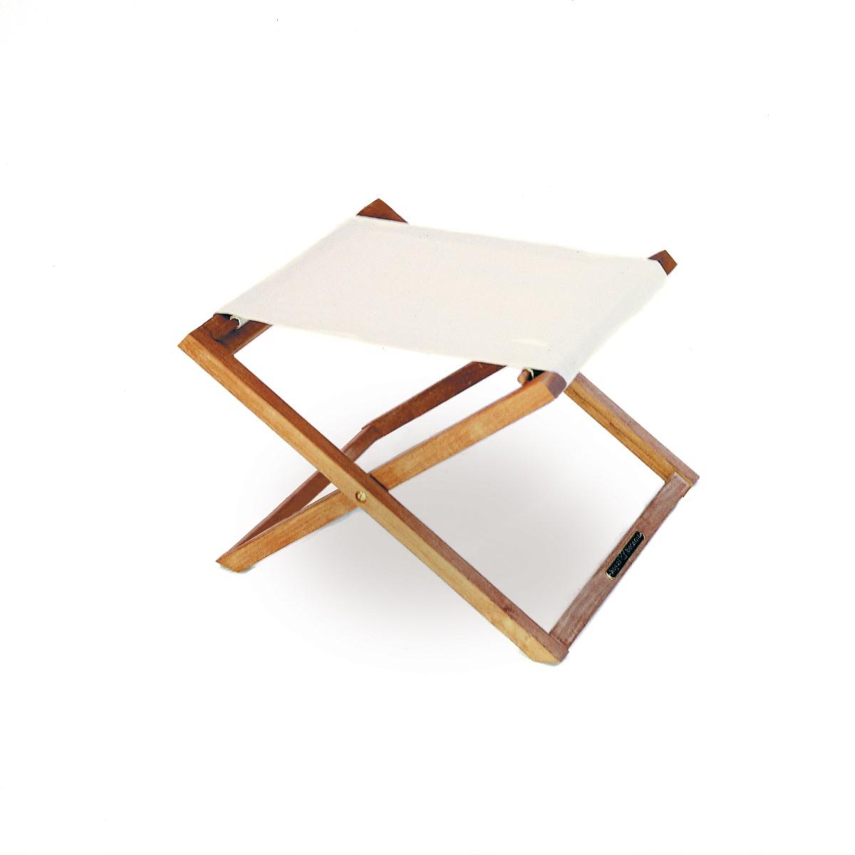 repose pieds transat de royal botania dralon blanc. Black Bedroom Furniture Sets. Home Design Ideas
