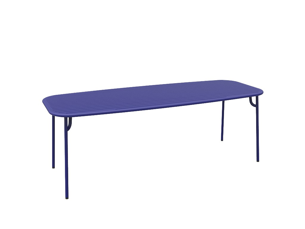 table rectangulaire week end de petite friture 220x85x75 bleu. Black Bedroom Furniture Sets. Home Design Ideas