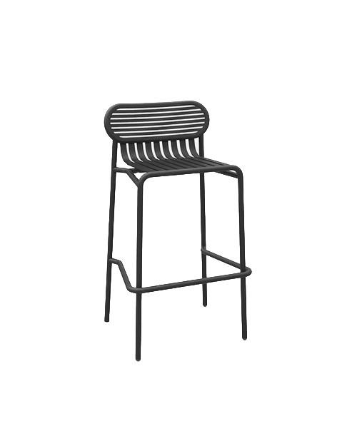 tabouret haut week end de petite friture noir. Black Bedroom Furniture Sets. Home Design Ideas