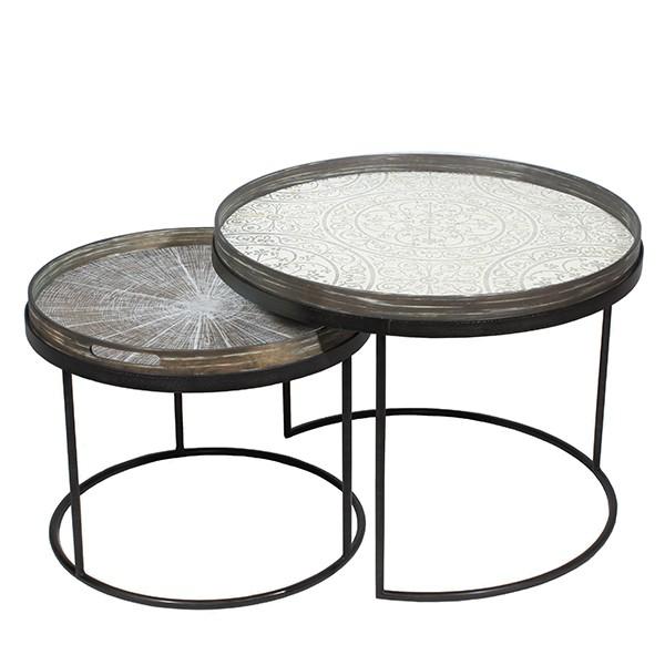 set round tray tables basses de notre monde. Black Bedroom Furniture Sets. Home Design Ideas