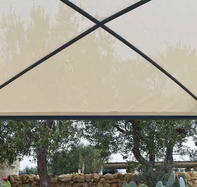 Pergola shibuya autoport e mobile extensible de unopiu 39 couverture avec - Toile micro perforee pour pergola ...