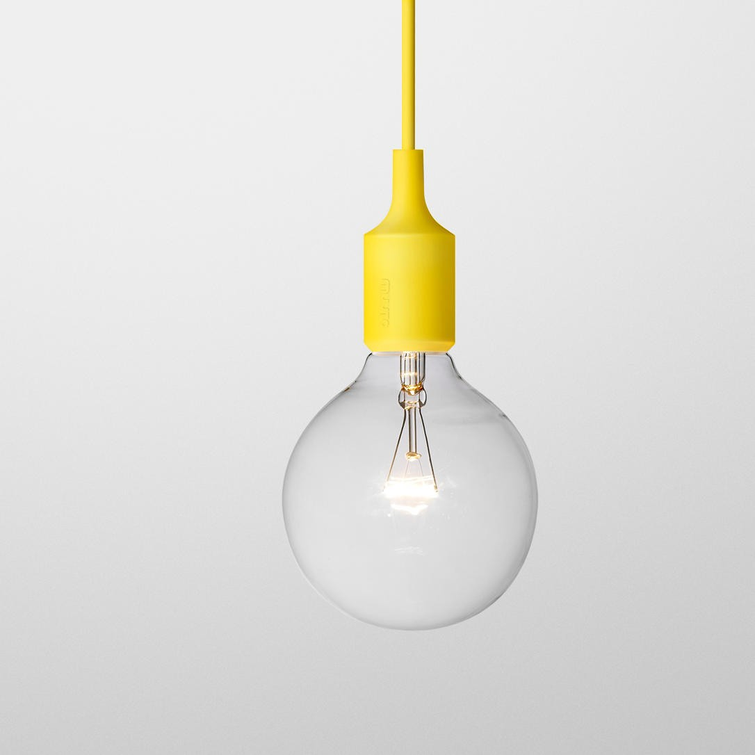 suspension e27 de muuto jaune. Black Bedroom Furniture Sets. Home Design Ideas