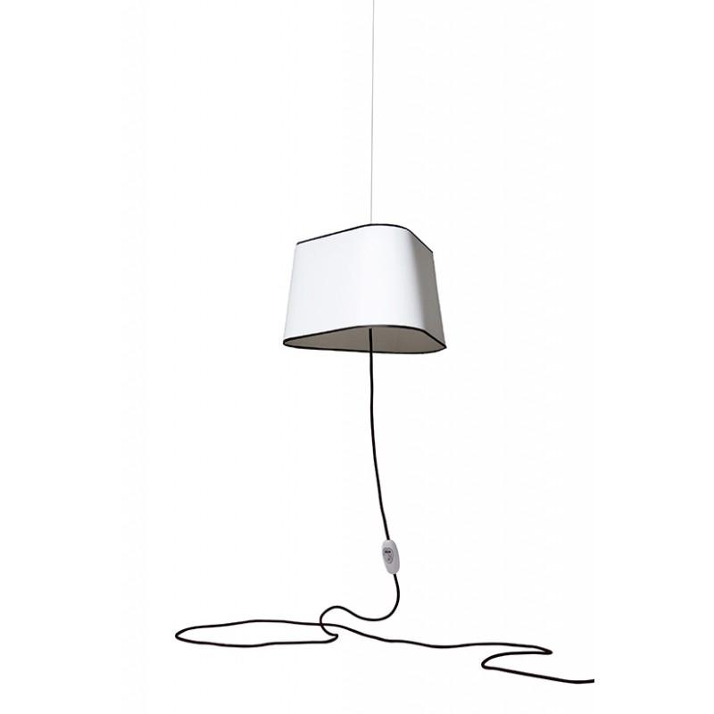 suspension nomade grand nuage de designheure blanc noir fil noir. Black Bedroom Furniture Sets. Home Design Ideas