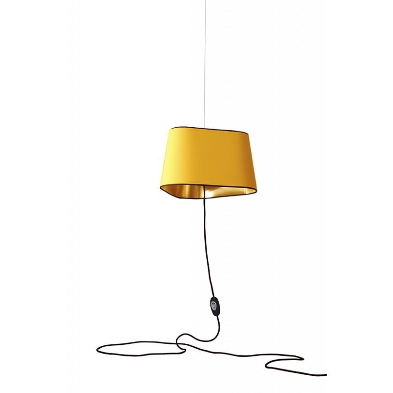 suspension nomade grand nuage de designheure jaune or. Black Bedroom Furniture Sets. Home Design Ideas