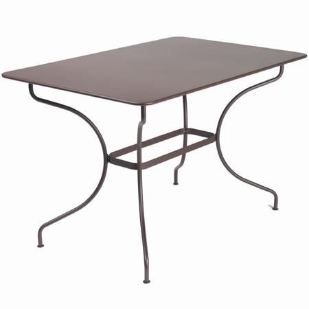 Table rectangulaire op ra de fermob rouille - Table opera fermob ...