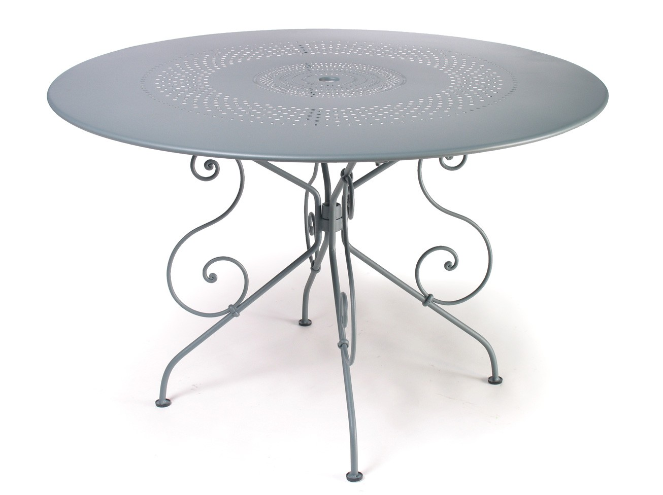 Table 1900 de fermob gris m tal - Table fermob castorama ...