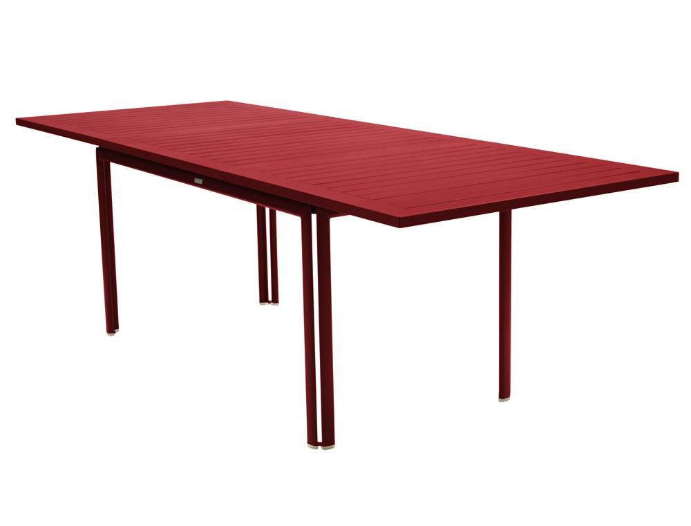 table allonge costa de fermob piment. Black Bedroom Furniture Sets. Home Design Ideas
