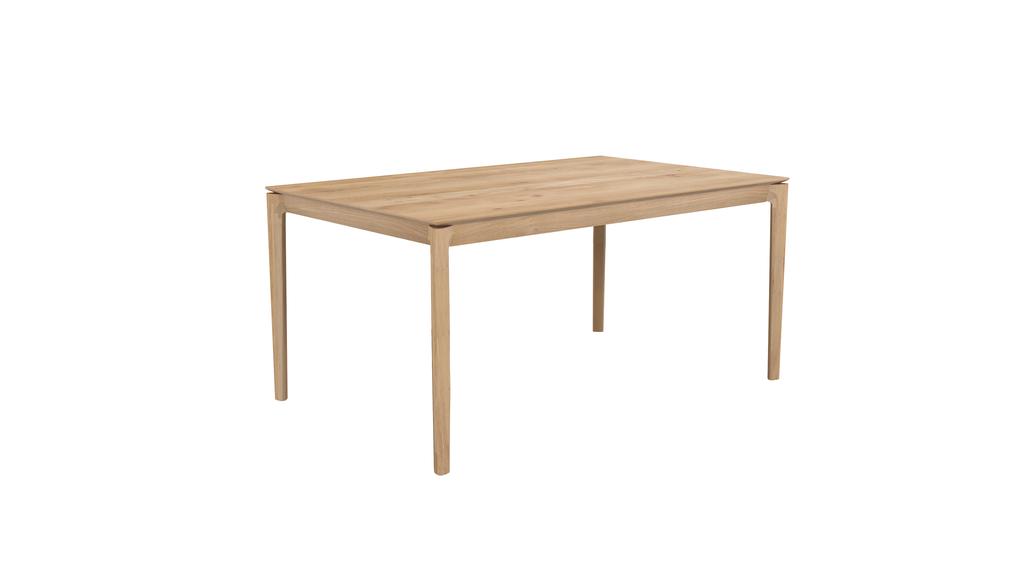 Table à rallonge BOK en chêne d\'Ethnicraft, L.160/240 x P.90 x H.