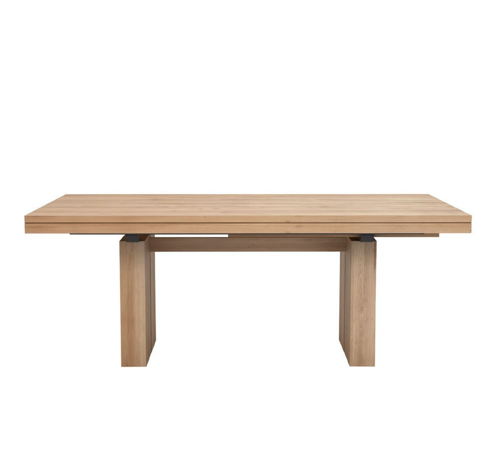 Table rallonge oak double d 39 ethnicraft for Table a rallonge