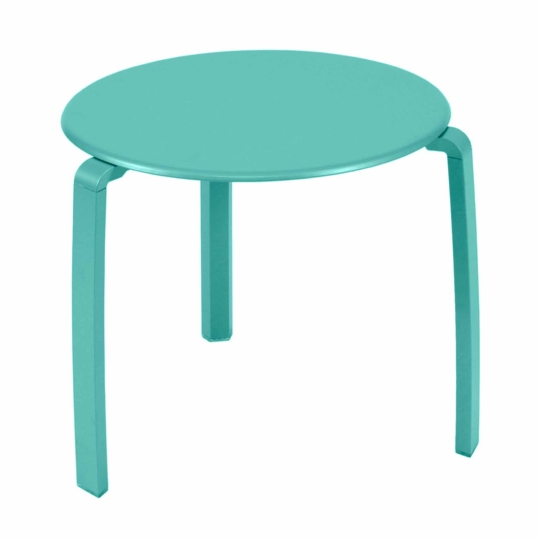 Table basse aliz de fermob bleu lagune for Table basse fermob