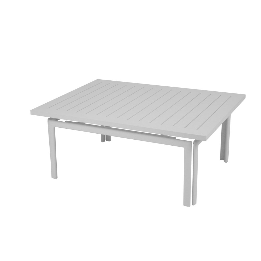 Table basse costa de fermob gris m tal for Table basse fermob