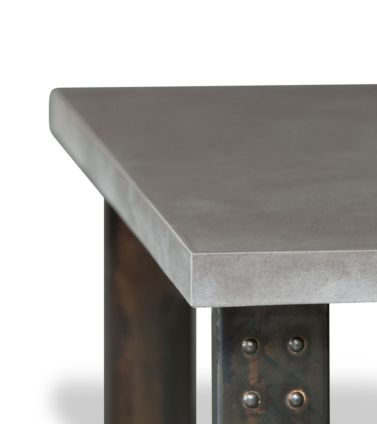 Table basse en béton pied atelier, 5 coloris