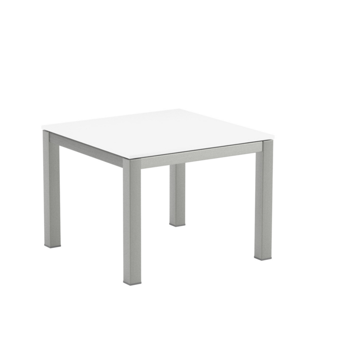 table basse 50x50 taboela verre royal botania blanc ForTable 50x50