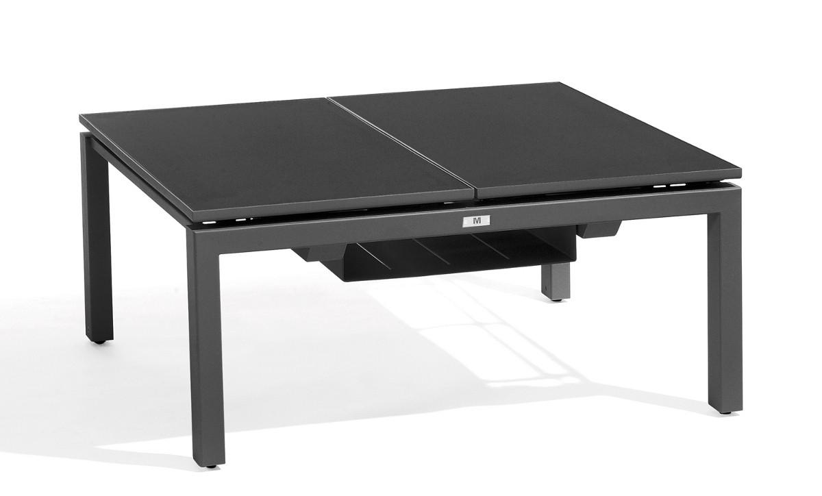 Table basse haute trento tip up de manutti 2 places - Table haute 6 places ...