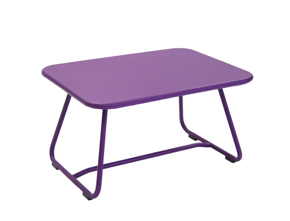 Table basse sixties de fermob aubergine - Table basse fermob ...