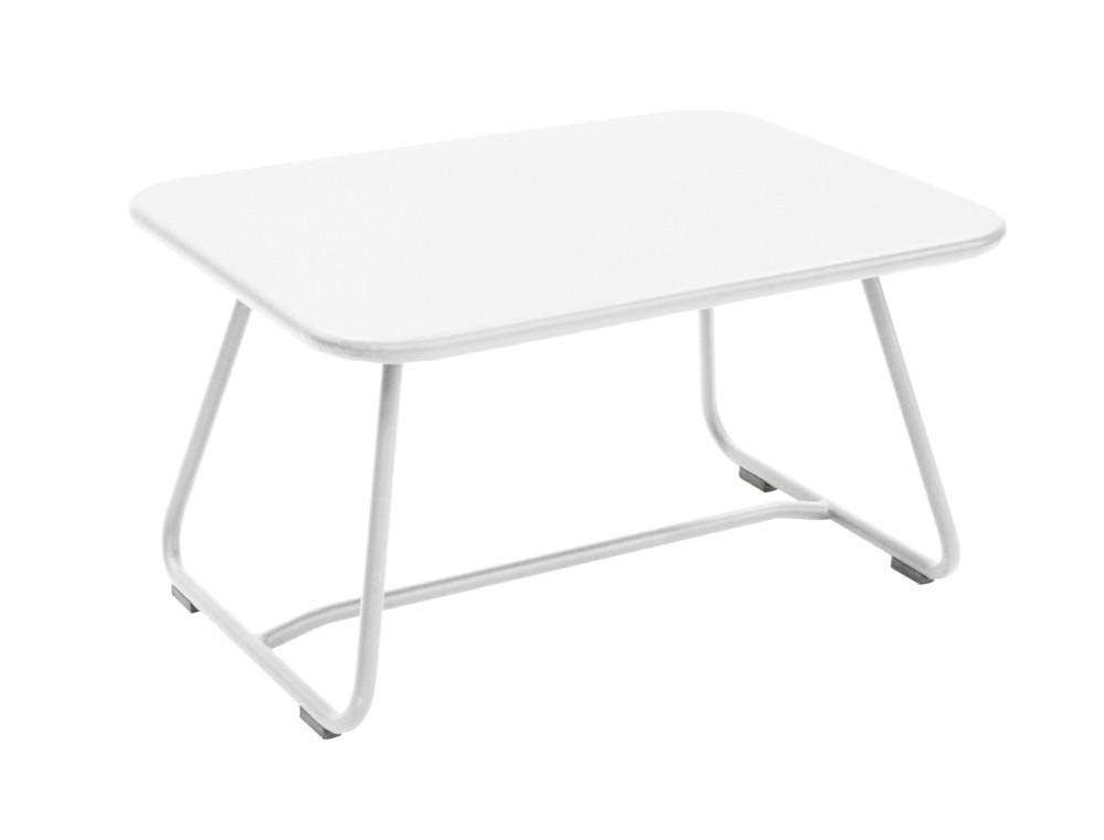 Table basse sixties de fermob blanc coton - Table basse fermob ...