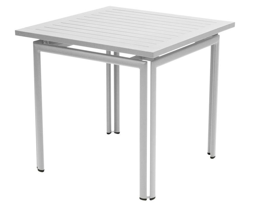 table carr e costa de fermob gris m tal. Black Bedroom Furniture Sets. Home Design Ideas