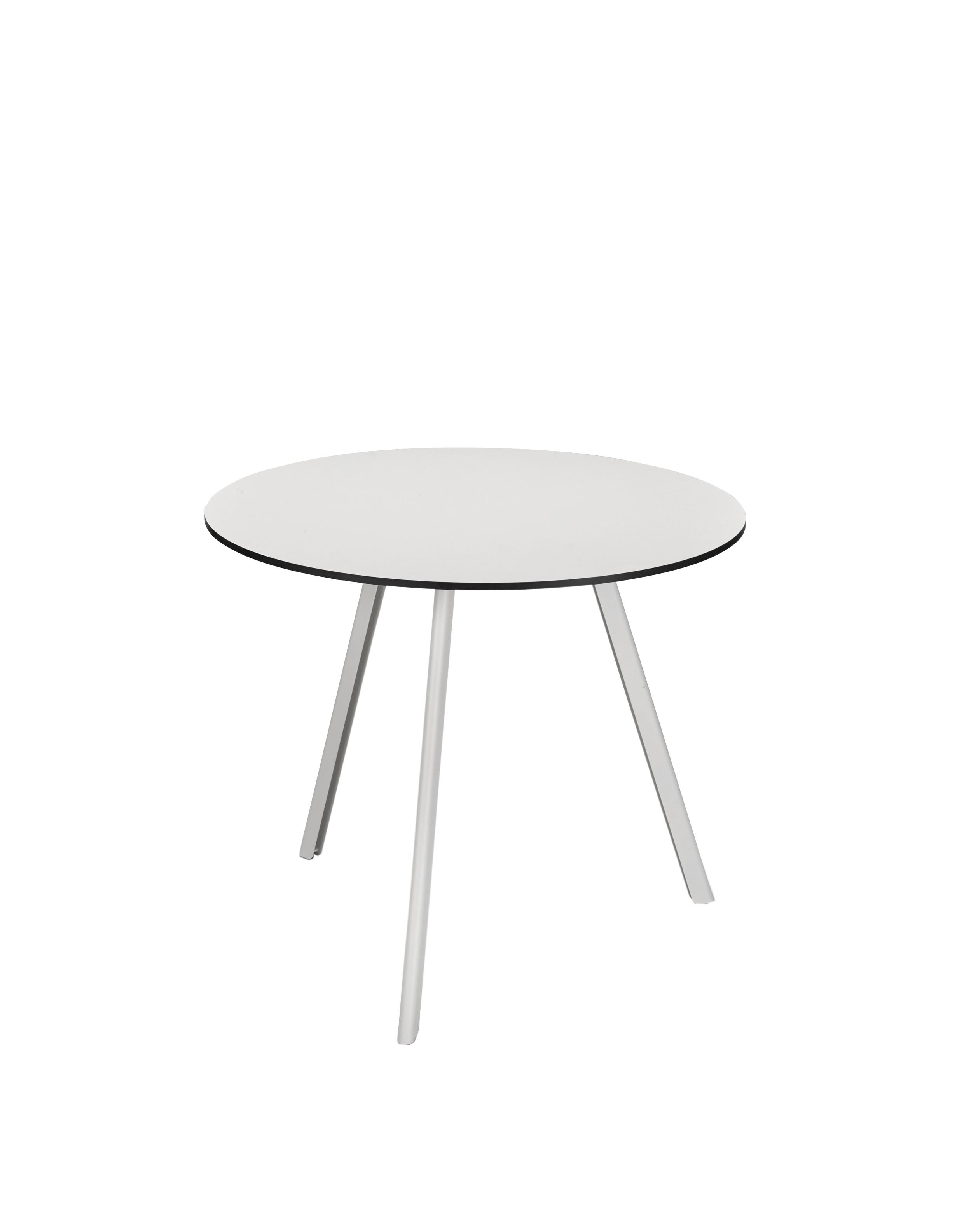 table d 39 appoint overlap de skagerak d 85 blanc argent. Black Bedroom Furniture Sets. Home Design Ideas