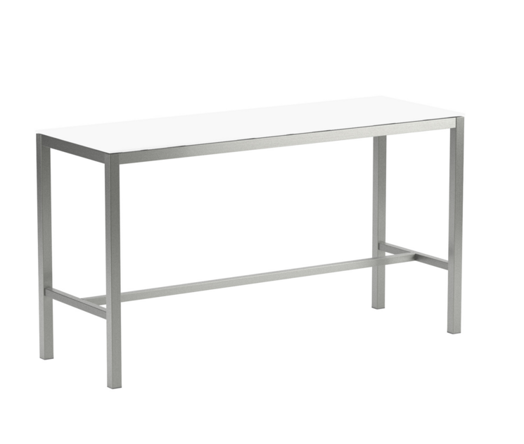 Table de bar TABOELA 200x70, verre, Royal Botania, blanc