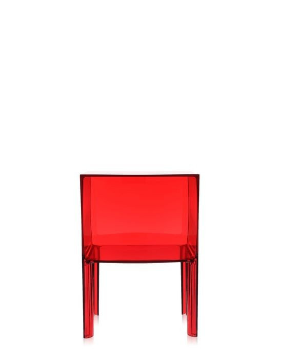 table de nuit small ghost buster de kartell rouge transparent. Black Bedroom Furniture Sets. Home Design Ideas