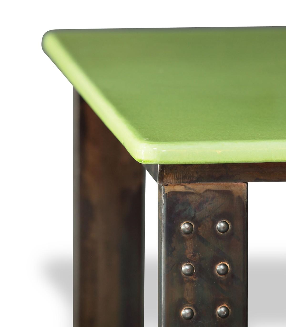 Table En Pierre De Lave 233 Maill 233 E Pied Atelier 53 Coloris
