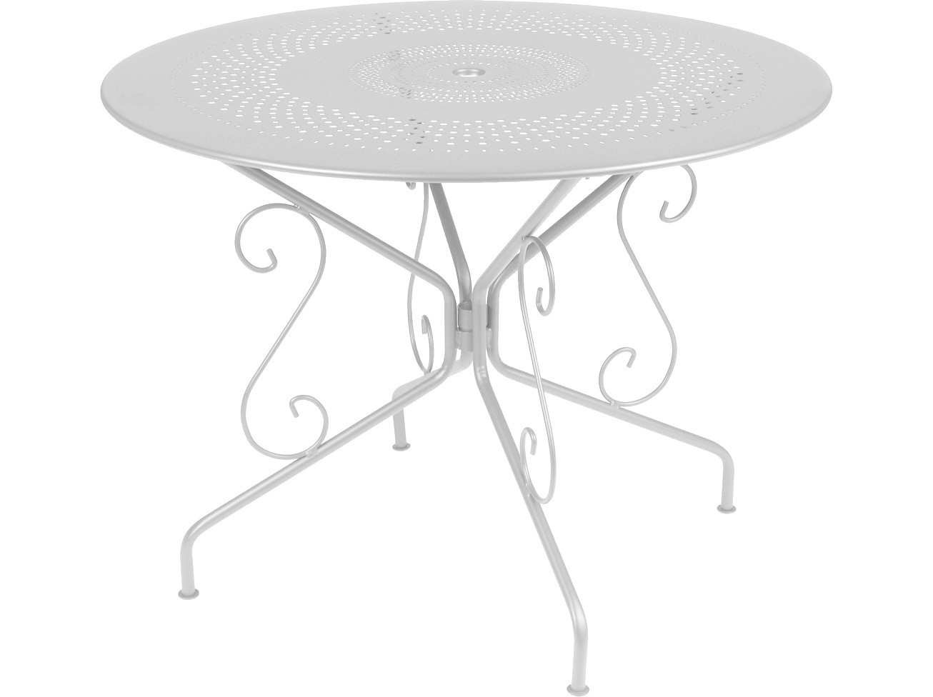 Best table de jardin ronde fermob images awesome for Table jardin metal gris