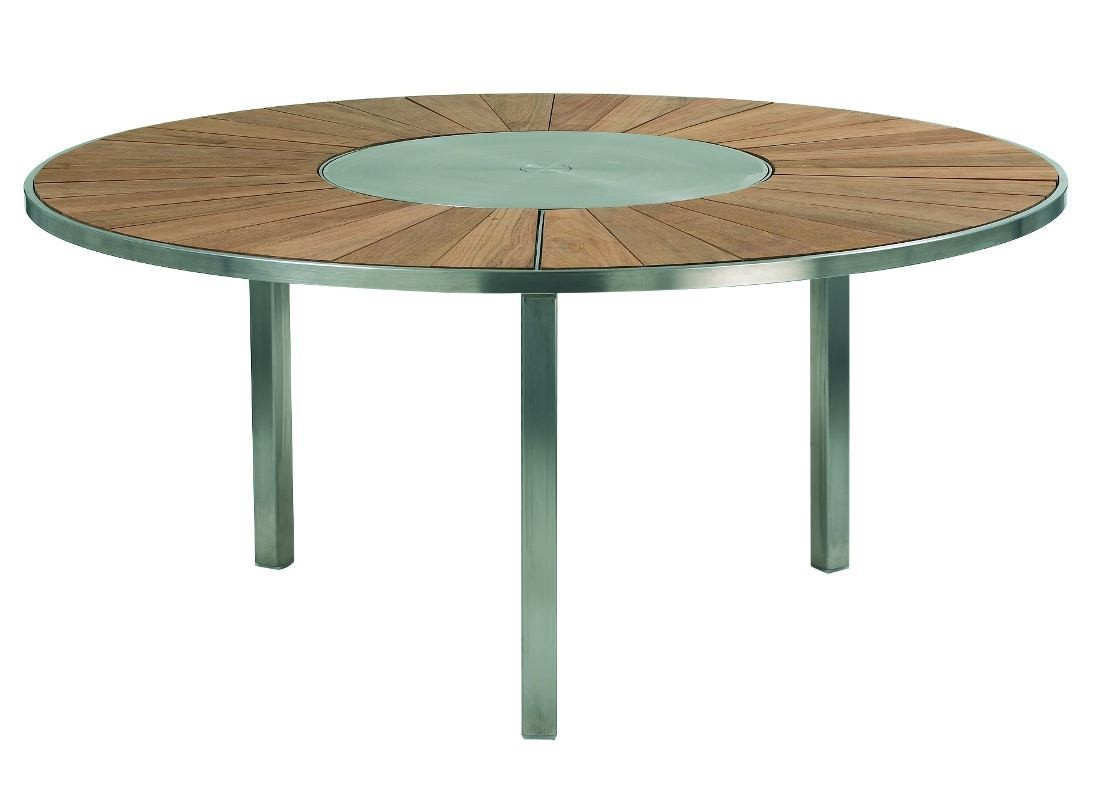 Best table ronde de jardin en inox images amazing house for Table ronde design 6 personnes